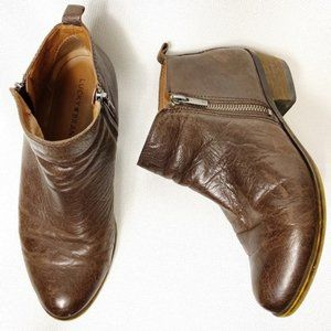 Lucky Brand Burklee Leather Booties Wide